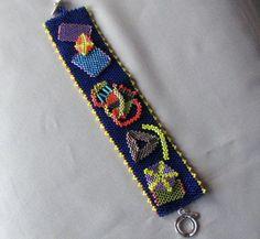 Blue Patchwork Bracelet