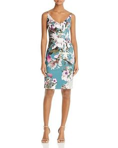 f37c4fc6f4cf4 $345 Black Halo Water Bloom Jevette Vback Vneck Floral Sheath Dress 2 NEW  B737 #BlackHalo