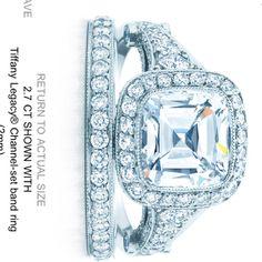 Tiffany engagement ring plus wedding band