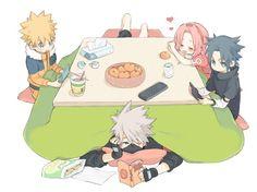 Naruto, Kakashi, Sakura and Sasuke Naruto Uzumaki, Anime Naruto, Naruto And Sasuke, Boruto, Naruto Cool, Kakashi Sensei, Sakura And Sasuke, Naruto Team 7, Team Minato