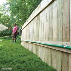 If you're constantly dragging long lengths of hose from the house to the far corners of your yard, consider adding a remote faucet instead. Depending on how much time and expense you want to put into it, this can be as simple as a length of garden hose connected to a fence with pipe straps, as shown here, or an underground pipe complete with a vacuum breaker at the house. (Learn more about how to install an outdoor faucet here. Either way, you'll save a ton of time and effort by not having…