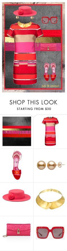 """Straight Line Geometry: Lanvin Dress"" by judymjohnson ❤ liked on Polyvore featuring Lanvin, Jean-Michel Cazabat, Eugenia Kim, Alexa Starr and Dolce&Gabbana"
