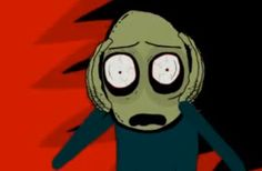David Firth's internet animation series Salad Fingers is incredibly creepy, so creepy that its protagonist seems to be in horror of itself. Definite Munch vibe here.