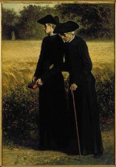 Charles de Groux (1825-1870) Regrets, vers 1855
