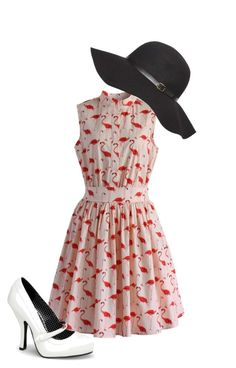 """""""40s inspired"""" by kaylan-fashion on Polyvore featuring Chicwish, Pinup Couture and Dorothy Perkins"""