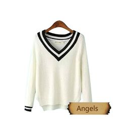 女裝V領子針織毛衣698   Angels Fashion Shop
