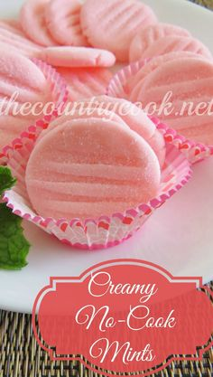 Creamy No-Cook Mints Recipe ~ Creamy minty deliciousness... These freeze beautifully too!