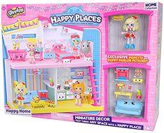 Shopkins_TM Happy Places House Playset Miniature Decor Exclusive Popette and Puppy Parlor Petkins!!...