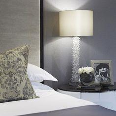 Bedside table detail in the master bedroom #Wentworth #luxuryliving #luxuryinteriors #homedecor #sophiepatersoninteriors