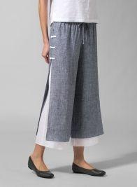 Cotton Pants Plus Size Casual Wide Leg Linen Pants - modvivi Baggy Pants, Loose Pants, Cropped Pants, Casual Pants, Harem Pants, Miss Me Outfits, Work Outfits, Wide Leg Linen Pants, Plus Size Pants