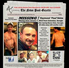 Paul, 32, was last seen on January 7, 2013. He was seen leaving Pine Knot Loop in Buena Vista, Ga. with another male. Supposedly he was let out at Elon subdivision sign in Columbus, Ga. He vanished after this and no further information is known. NamUs lists him as missing from Columbus.  NamUs MP # 21993...See More: Columbus Police Department 706-225-4296 Case # 13-001035 #missingpersons