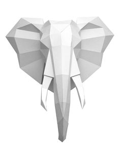 Presentation of my new sculpture out of paper. The unfolded 2d pattern of the elephant head are awailable for download.