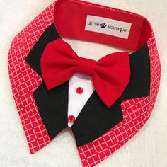 Items similar to Elegant Red Dog Bandana By Little Paws Boutique on Etsy Dog Clothes Patterns, Dog Crafts, Dog Items, Red Dog, Dog Pattern, Pet Costumes, Pet Clothes, Dog Clothing, Dog Dresses