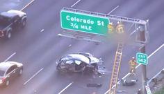 California Man's Dead Body Perched On Freeway Sign Following Bizarre Car Crash Mistaken For Halloween Prank
