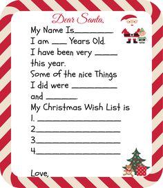 Free Printable Santa Letters for Kids. Four Different Santa Letter Templates. Makes great keepsakes!