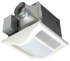 . Panasonic's Whisper series is my go-to for quiet and effective exhaust fans. The WhisperGreen products are up to 871 percent more efficient than Energy Star standards, and they detect both motion and humidity, automatically turning on when someone enters or leaves the room, or when high humidity is sensed.