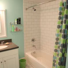 Traditional Bath Shower Combo Design, Pictures, Remodel, Decor and Ideas
