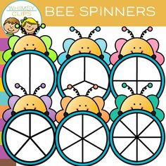 Have fun with this free bee spinners clip art. This set contains 12 image files, which includes 6 color images and 6 black & white images in png. All images are 300dpi for better scaling and printing.You will receive:6 color png images6 black & white png imagesTerms of Use:  The clip art may be used in educational commercial products.