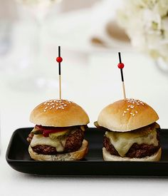 Mini wagyu burgers - Gourmet Traveller