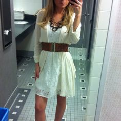 White lace dress from forever21 coverup charlotte.