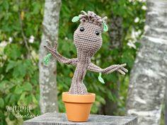 Smartapple Amigurumi and Crochet Creations: Gratis Häkelanleitung in Deutsch - Baby Groot aus Guardians of the Galaxy