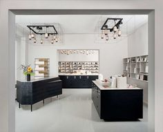 Fabian von Ferrari has designed the interiors for P & T, a specialty tea company in Berlin, Germany.