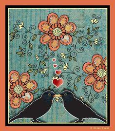 floral digital stamp