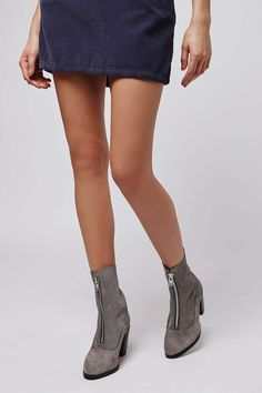MAGNETIC Zip-Front Boots