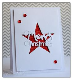 ...{Sylvias Stamping Place}... CAS Christmas card