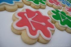 """Glace Icing...supposedly easier than royal icing. """"It's super forgiving, easy to use, and it actually tastes good! The benefit of using an icing like this is that it dries to a solid sheen, making the cookies stackable and packable- perfect for giving."""""""