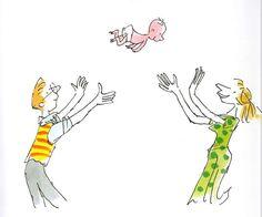 Zagazoo, un bambino arrivato per posta, sconvolge la perfetta vita di George e Bella con le sue metamorfosi evolutive. Quentin Blake colpisce ancora! http://gallinevolanti.com/zagazoo/
