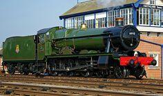 BR (GWR) Hall class  4-6-0   No 6990 'Witherslack Hall' Steam Railway, British Rail, Great Western, Steam Engine, Steam Locomotive, Steamer, Train Station, Travel Posters, Gabriel