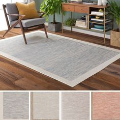 Meticulously Woven Division Rug (7'11 x 10'10) (Light Grey), Blue, Size 8' x 11' (Plastic, Border)