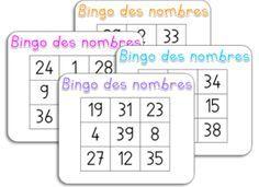 Loto des nombres - 1 à 19, 1 à 39