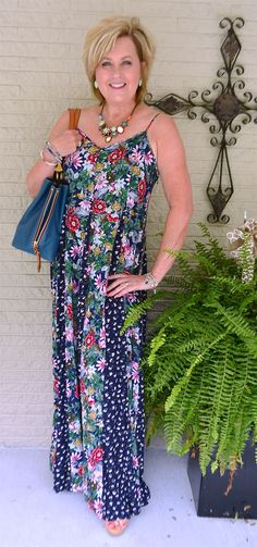 50 IS NOT OLD | STYLING A LONG MAXI DRESS