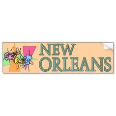 New Orleans Masks and Horns Bumper Stickers