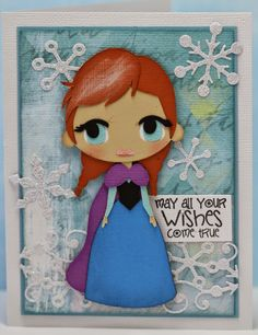 This and That - Frozen Blog Hop - Anna card