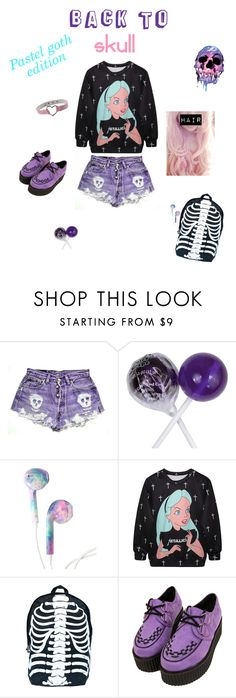 """""""Back to... skull! #4"""" by luana-poe ❤ liked on Polyvore featuring Comeco"""