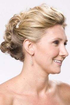 Brown Highlights: fancy updo hairstyles for medium length hair - kind of like this one for me, also