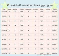 10 week half marathon training program