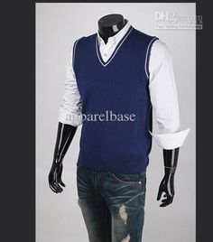 Old Navy: Men's V-Neck Sweater Vest - classier casual | Mens ...