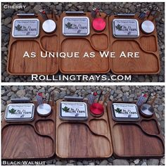 www.RollingTrays.com   These are our large handmade Rolling Trays.   Also,  We are having a blow out sale on our small Dr. J's Rolling Trays. $39.99CAD while quantities last.   Every one of our trays comes with attached storage tin, scissors, baggies and our custom poker.   Visit www.RollingTrays.com   Or follow the link in our Bio.  #drjsrollingtrays #rollingtray #rollingtrays #budtray #sale #gift #present #myrollingtray #weedtray #jointrollingtray #present #handmadeincanada #canadianstoner