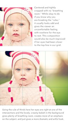 Good info on the rule of thirds for setting up your shot and the use of white space in a photo.