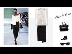 camicia bianca e gonna nera   black & white
