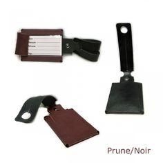 Etiquette de bagage en cuir - Porte étiquette de bagage 2 couleurs au choix db05e31b92d