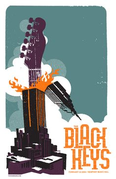 The Black Keys made a new poster for every show on their tour. 80 in all. Genuis