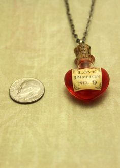 Glass Vial Necklace Love Potion NO.9