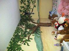 mural - safari baby room tree