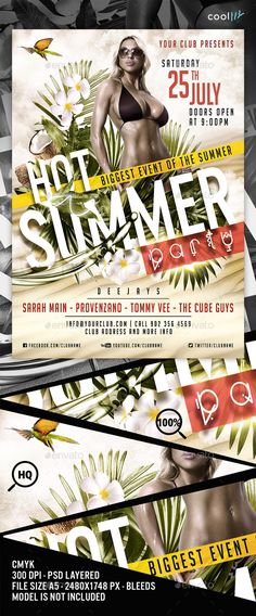 Download: http://graphicriver.net/item/hot-summer-party-flyer-template/12116706