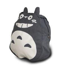 2017 Fashion Funny Round Cartoon Totoro Shopping Tote Women Canvas Teenage Girls Book School Bags Casual Travel Bags Bolso Li694
